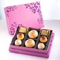 漢坊 臻饌禮盒-3盒組(綠豆椪+金韻蛋黃酥 綜合8入)紅