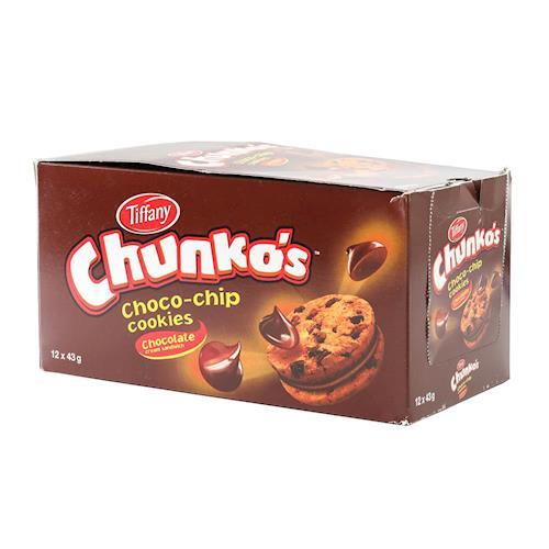 【Tiffany】迷你巧克力夾心餅乾43g*12包/盒*2盒組