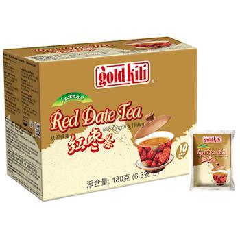 金麒麟 gold kili 桂圓蜂蜜紅棗茶 (盒裝-18公克-10包)