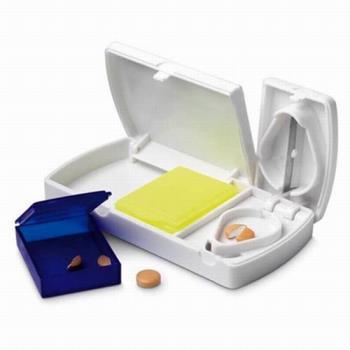 iSFun 有切刀的 方便隨身藥盒