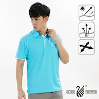 【遊遍天下】男款吸濕排汗機能POLO衫GS10013M(水藍)