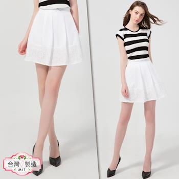 【LIYO 理優】MIT寬摺蕾絲素色短裙O723002