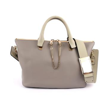 CHLOÉ Baylee Small two-tone tote 小牛皮(羊毛灰色)(OUTLET) 3S0169 882 06T