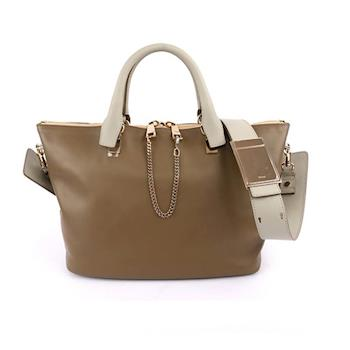 CHLOÉ Baylee Small two-tone tote 小牛皮( 灰/駝)(OUTLET) 3S0169 882 07V