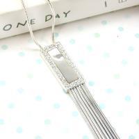 伊飾炫銀 珠光霬影 點晶純銀項鍊