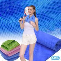 日本SANKi-冰涼毛巾4入粉紅色+藍色 (95CmX20Cm)