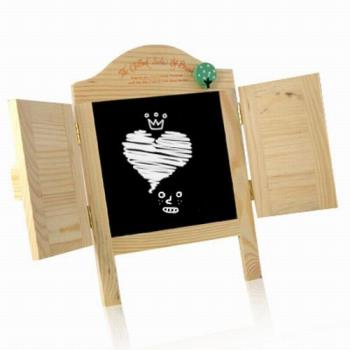 iSFun愛心百葉窗木製留言小黑板