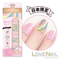 【LOVE NAIL】持久指甲油貼-日本限量系列-Pink Fire Works(粉紅煙火)指甲貼