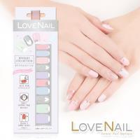 【LOVE NAIL】持久指甲油貼-水鑽珠寶盒系列(雪霜粉彩糖鑽)