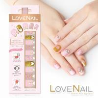 【LOVE NAIL】持久指甲油貼-水鑽珠寶盒系列(粉豹金采派對)