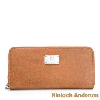 【Kinloch Anderson 金安德森】單拉鍊長夾 多功能夾層-焦糖棕(KA310103MRF)