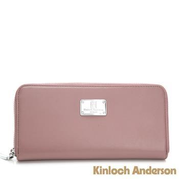 【Kinloch Anderson 金安德森】單拉鍊長夾 多功能夾層-蜜桃粉(KA310107PKF)