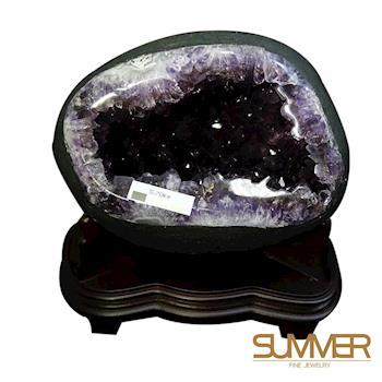 SUMMER寶石 天然 5A濃紫晶洞《5.7KG》(X027)