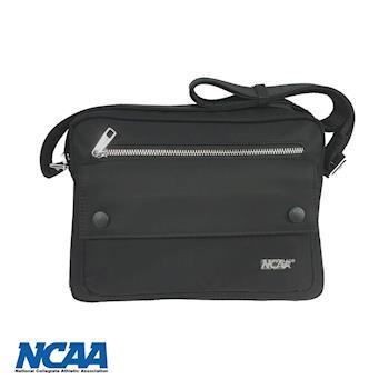 NCAA防潑水前拉鍊側背包(大) 黑色