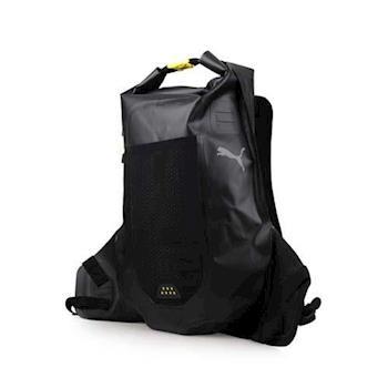 PUMA PR防水後背包-雙肩包 肩背包 旅行包 黑芥末黃
