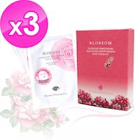 BLOSSOM 玫瑰5D浄白保濕羽絲絨煥采面膜30ML (5片/盒) x3