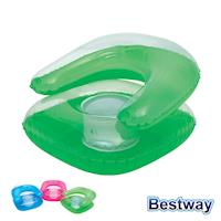【BESTWAY】充氣式兒童沙發椅 (綠色)
