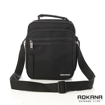 【AOKANA奧卡納】台灣製造 YKK拉鍊 防潑水業務斜背包(02-033黑色)