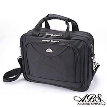 【ABS愛貝斯】可加大公事包 防潑水電腦包 斜背包(02-029黑色)