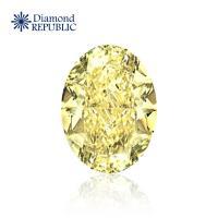 【鑽石共和國】橢圓形黃彩鑽GIA 0.73克拉 Natural Fancy Yellow / I1