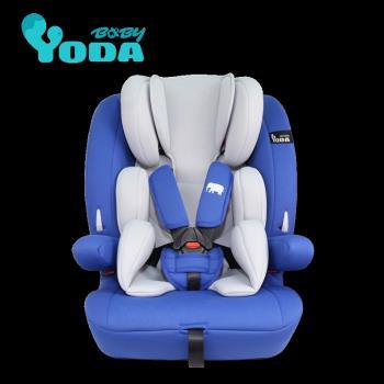 送溫感有機娃娃(市價1290)-YoDa 成長型兒童安全座椅-雅仕藍