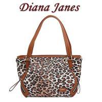 Diana Janes牛皮豹紋時尚多用女包