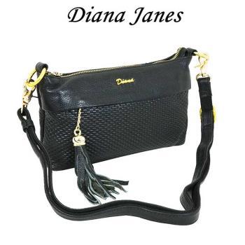 Diana Janes牛皮壓紋兩用斜背包