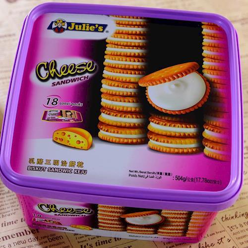 【Julies】茱蒂絲乳酪夾心餅乾桶裝(504gx6罐/組)