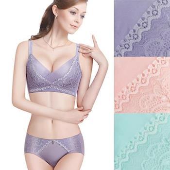 TJP創新無鋼圈精品蠶絲胸罩 (內衣*3+內褲*3)