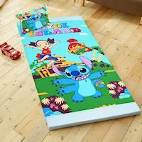 HO KANG 授權卡通 雙人三折式透氣床墊-SD史迪奇
