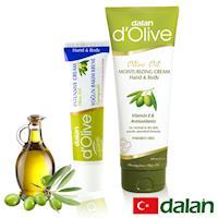 【土耳其dalan】頂級橄欖身體護手深層強效滋養修護霜1大1小體驗組