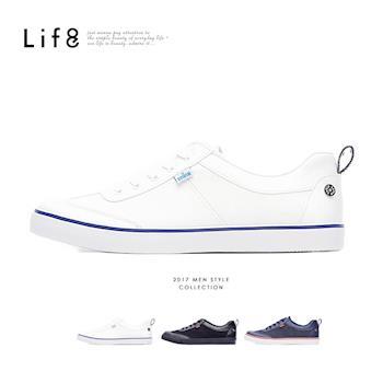 任-Life8-EDWIN聯名款 Casual 帆布 復古加硫休閒鞋-09699