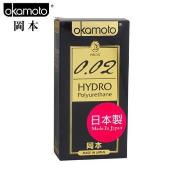 【保險套世界精選】岡本.002 HYDRO 水感勁薄保險套(12入)