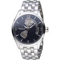 HAMILTON漢米爾頓 JAZZMASTER爵士系列OPEN HEART 80小時自動腕錶 H32705131