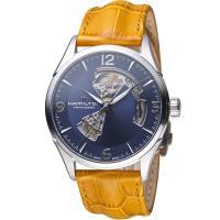 HAMILTON漢米爾頓 JAZZMASTER爵士系列OPEN HEART 80小時自動腕錶 H32705541