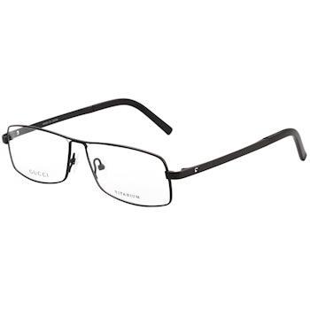 GUCCI-復古光學眼鏡 純鈦日本廠 (黑色)