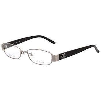 GUCCI-日廠純鈦 光學眼鏡 (銀色)