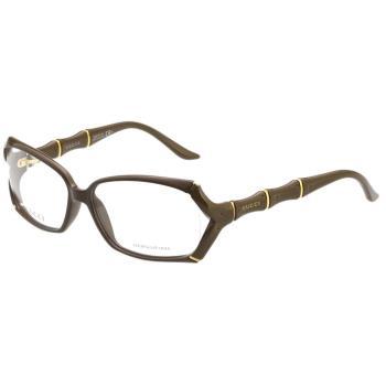 GUCCI-時尚竹節 光學眼鏡 (橄欖綠)