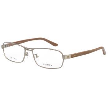 GUCCI-時尚光學眼鏡(銀框))