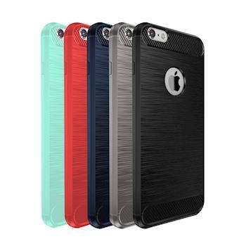 QinD Apple iPhone 6/6S Plus 拉絲矽膠套