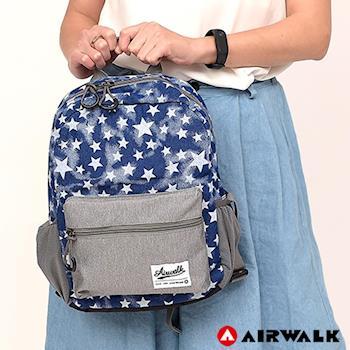 【美國 AIRWALK】 Blue star輕量親子後背包(小)-星星藍