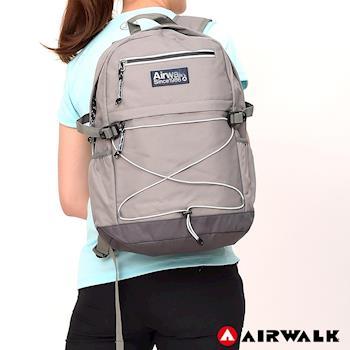 【美國 AIRWALK】 極簡自在 休閒大容量筆電後背包-共三色