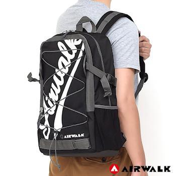【美國 AIRWALK】   撞色字母 雙層護脊輕量筆電後背包-共四色