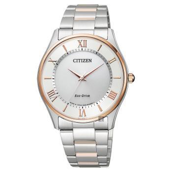 CITIZEN 星辰 Eco-Drive光動能手錶 雙色版 37mm BJ6484-50A