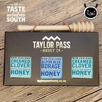 壽滿趣 TaylorPass紐西蘭甜蜜蜜蜂蜜禮盒(琉璃苣x1三葉草x2)