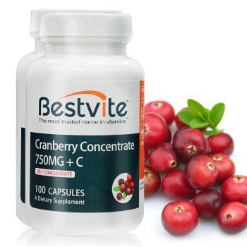 【美國BestVite】 必賜力高濃縮蔓越莓膠囊2瓶組 (100顆*2瓶)