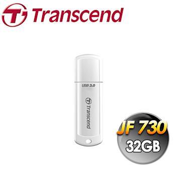Transcend 創見 JF730 32G USB3.0 高速隨身碟-白