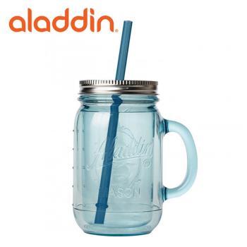 美國Aladdin雙層保冷隔熱梅森吸管杯591ml