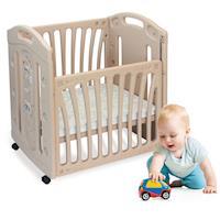 寶貝樂嚴選 浣熊嬰兒床/遊戲床(含床墊)