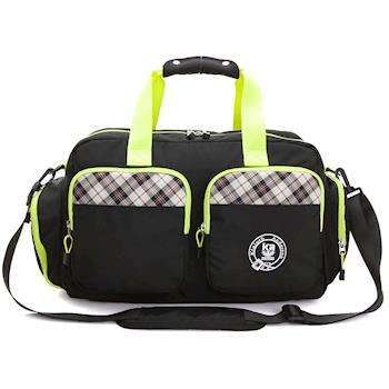 【金安德森】中款旅行袋 跳躍時空 機能雙口袋手提-時尚黑(KA164402BKF)